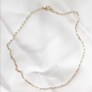 LAST ONE!! 14k gold filled paperclip chain